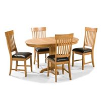 Intercon Furniture Family Dining Collection 5-Piece Pedestal Table Dining Set in Chestnut