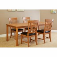 Intercon Furniture Family Dining Collection 5-Piece Dining Set in Chestnut