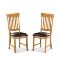 Intercon Furniture Family Dining Collection Side Chairs in Chestnut (Set of 2)