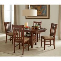 Intercon Furniture Mission Casuals 5-Piece Dining Set With Side Chairs in Dark Oak