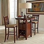 Intercon Furniture Mission Casuals 3-Piece Pub Gathering Set With Bar Stools in Dark Oak