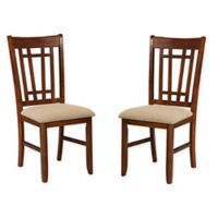 Intercon Furniture Mission Casuals Lattice Back Side Chairs in Dark Oak (Set of 2)