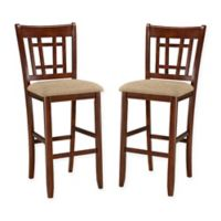 """Intercon Furniture Mission Casuals Dining Mission Casual 30"""" Lattice Back Bar Stool (Set of 2)"""