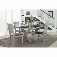 Intercon Furniture Small Spaces 5-Piece Trestle Dining Set With Side Chairs in Cherry