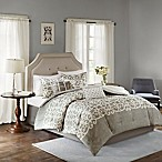 Madison Park Cortana 7-Piece King Comforter Set in Grey