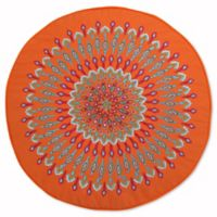 Levtex Home Marais Peacock Round Throw Pillow in Red