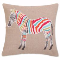 Levtex Home Marais Zebra Sparkle Burlap Square Throw Pillow in Grey