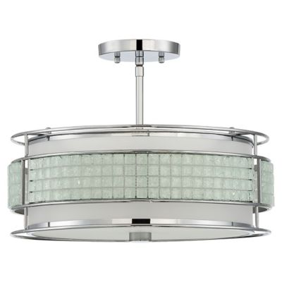 Buy quoizel ceiling flush mount from bed bath beyond quoizel boundary 3 light semi flush mount ceiling fixture in polished chrome aloadofball Image collections