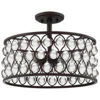 Quoizel Alexandria Semi Flush Mount in Palladian Bronze