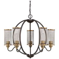 Quoizel Denton 6-Light Cage Chandelier in Western Bronze