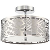 Quoizel Platinum Collection Abode Semi-Flush Mount in Polished Chrome
