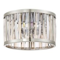 Quoizel Platinum Collection Ballet Medium Flush Mount Ceiling Fixture in Brushed Nickel