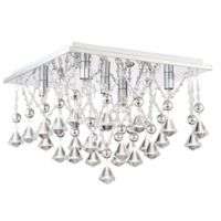 Quoizel Platinum Collection Crystal Drape 5-Light Flush Mount Ceiling Fixture in Polished Chrome