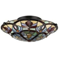 Quoizel Garland 2-Light Large Pendant Ceiling Fixture in Brown