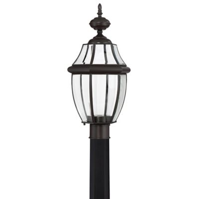 Buy outdoor electric lights from bed bath beyond quoizel newbury 1 light post mount outdoor lantern with cfl bulb in medici bronze workwithnaturefo