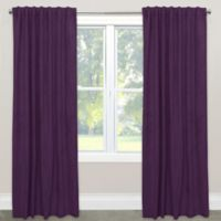 Skyline Velvet 96-Inch Rod Pocket/Back Tab Window Curtain Panel in Purple