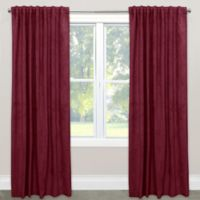 Skyline Velvet 96-Inch Rod Pocket/Back Tab Window Curtain Panel in Berry