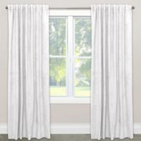Skyline Blackout Velvet 84-Inch Rod Pocket/Back Tab Window Curtain Panel in White