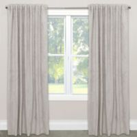 Skyline Blackout Velvet 84-Inch Rod Pocket/Back Tab Window Curtain Panel in Light Grey
