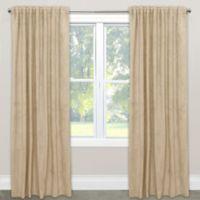 Skyline Velvet 63-Inch Rod Pocket/Back Tab Window Curtain Panel in Buckwheat