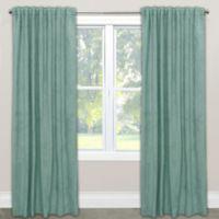 Skyline Velvet 96-Inch Rod Pocket/Back Tab Window Curtain Panel in Caribbean