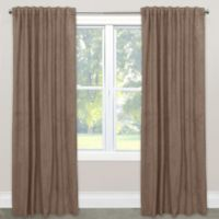 Skyline Velvet 84-Inch Rod Pocket/Back Tab Window Curtain Panel in Cocoa