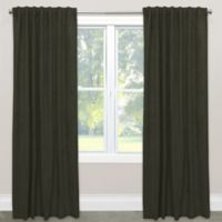 Skyline Velvet 63-Inch Rod Pocket/Back Tab Window Curtain Panel in Grey