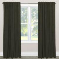 Skyline Velvet 96-Inch Rod Pocket/Back Tab Window Curtain Panel in Grey