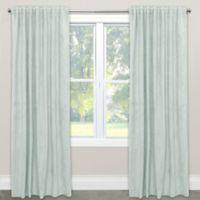 Skyline Velvet 120-Inch Rod Pocket/Back Tab Window Curtain Panel in Pool