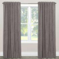 Skyline Velvet 63-Inch Rod Pocket/Back Tab Window Curtain Panel in Steel Grey