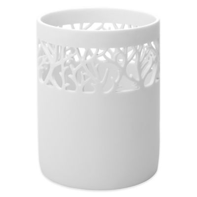 bathroom wastebasket. India Ink Coral Reef Waste Basket in Blue Haze Buy Bathroom from Bed Bath  Beyond