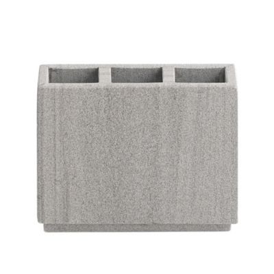 Capistrano Marble Toothbrush Holder In Graphite Grey