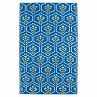 Kaleen Glam Floral 9-Foot x 12-Foot Area Rug in Blue