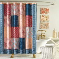 Jessica Simpson Grace Shower Curtain in Blue/Orange