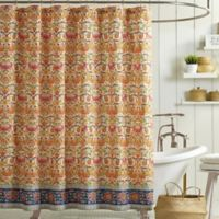 Jessica Simpson Provincial Shower Curtain in Orange