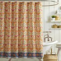 Jessica Simpson Provincial Shower Curtain in Orange