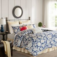 Madison Park Lucy 9-Piece Queen Duvet Cover Set in Navy