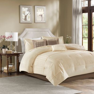 High Quality Madison Park 7 Piece Trinity King Comforter Set In Ivory