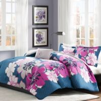 Mi Zone Allison 3-Piece Twin/Twin XL Comforter Set in Fuchsia