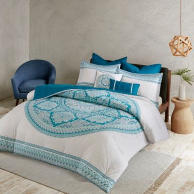 urban habitat coletta 7 piece kingcalifornia king comforter set in aqua - Vintage Bedding