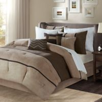 Madison Park Palisades Queen Duvet Cover Set in Brown