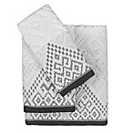 Tulum Hand Towel in White/Grey