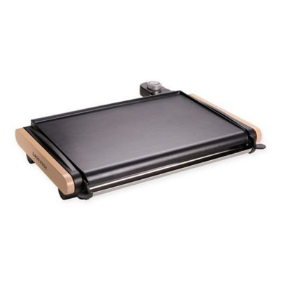 LaGrange® Plancha Electric Griddle In Black/Tan