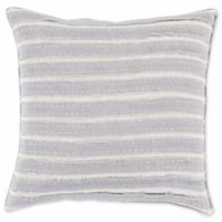 Style Statements by Surya Striped Square Throw Pillow in Mauve