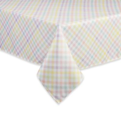 Spring Splendor Gingham 60 Inch X 144 Inch Oblong Tablecloth
