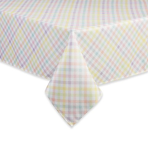 Spring Splendor Gingham Tablecloth In Multi Bed Bath