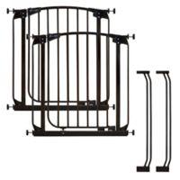 Dreambaby® Chelsea Swing Close Gates in Black (Set of 2)
