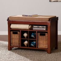 Southern Enterprises Flynn Storage Bench in Espresso