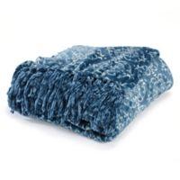 Orleans Printed Plush Throw Blanket in Teal