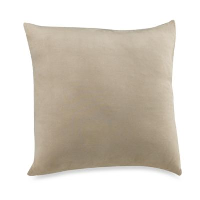 Sure Fit® Stretch Suede Square Throw Pillow Cover